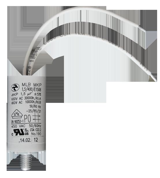 1,5 µF / 400V AC motor capacitor Hydra (AEG) / class A